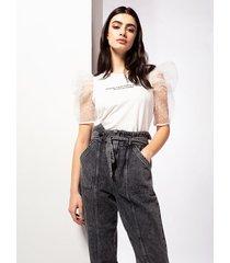 motivi jeans carrot effetto vintage donna nero