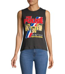 the police cotton muscle tank