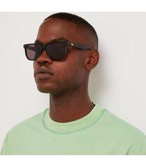 bottega veneta men's acetate sunglasses - black/grey/gold