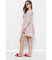 sukienka / tunika z muślinu fabiola wrzosowa