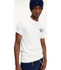 polera tjm stretch chest logo blanco tommy jeans