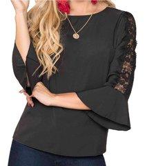 blusa angel negro  para mujer croydon
