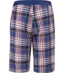 korte pyjamabroek met ruitdessin van jockey blauw