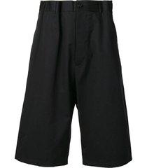 long bermuda shorts black
