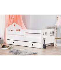 łóżko ladybird szuflada serduszka kolor biały