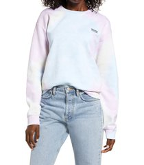 women's treasure & bond vote collection tie dye sweatshirt, size medium - pink