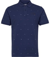 docksides flag pique polos short-sleeved blå sebago