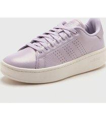 zapatilla violeta adidas advantage bold