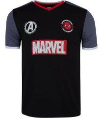 camiseta marvel fardamento homem aranha - masculina - preto