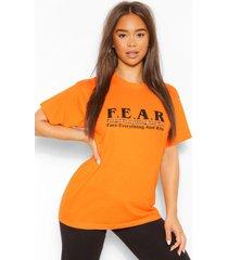 f.e.a.r graphic t-shirt, orange