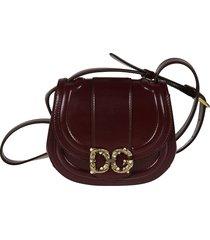 dolce & gabbana logo detail embellished shoulder bag