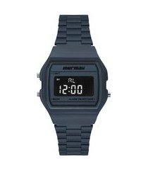 relógio digital mormaii feminino - mojh02bi azul