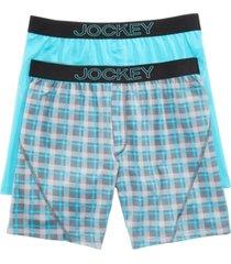 jockey men's 2-pack knit no bunch boxer