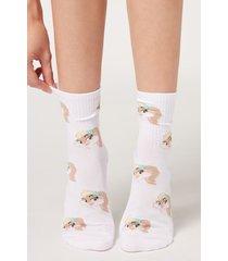 calzedonia ankle socks in warner bros. pattern woman print size tu