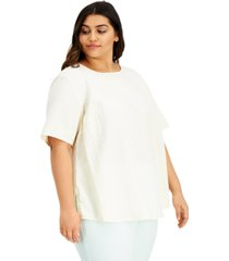 alfani plus size boat-neck top, created for macy's