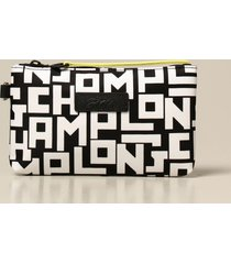longchamp crossbody bags longchamp clutch bag in logoed canvas