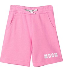 msgm pink shorts