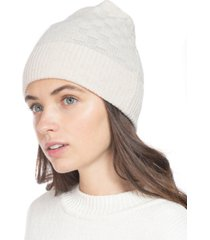 charter club check-knit cashmere beanie, created for macy's