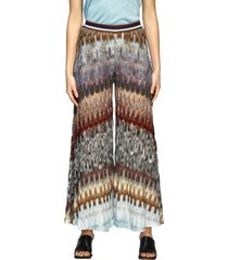 missoni pants missoni trousers in lurex jacquard