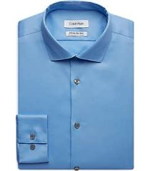 calvin klein infinite blue extreme slim fit dress shirt
