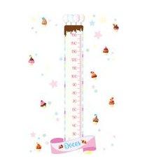 adesivo de parede doces candy colors régua crescimento 169cm
