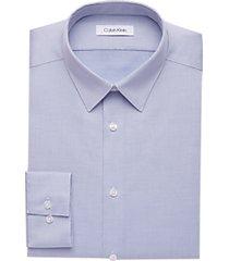 calvin klein gray blue slim fit dress shirt
