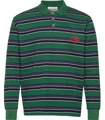 polo tee long sleeve polos long-sleeved grön han kjøbenhavn