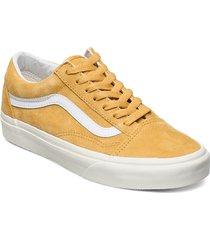 ua old skool låga sneakers gul vans