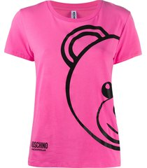 moschino underwear teddy bear-print t-shirt - pink