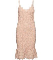 strap dress knälång klänning rosa rosemunde