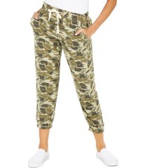 celebrity pink juniors' camoflauge-print pull-on pants