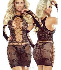 * provocative zwart jurkje met arm sleeves