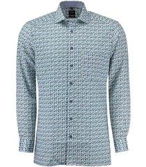 overhemd modern fit blauw