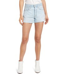 le jean adele high waist cutoff shorts, size 24 in blue sky at nordstrom