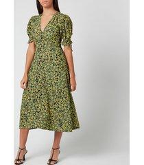 faithfull the brand women's mejia midi dress - yasmin floral - l
