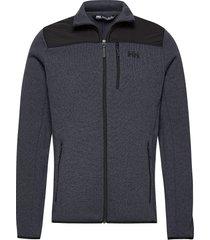 varde fleece jacket sweat-shirts & hoodies fleeces & midlayers blå helly hansen