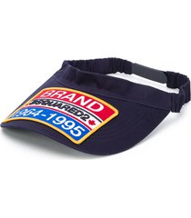 dsquared2 brand patch visor - blue