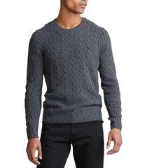 chaleco cable wool-cashmere gris polo ralph lauren