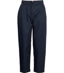 cotton poplin tapered pant chino broek blauw tommy hilfiger
