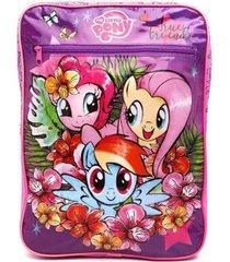mochila escolar de costas my little pony infantil feminino