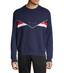 fila men's leroy cotton sweatshirt - white - size xl