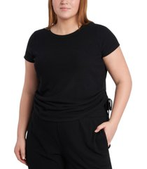 1.state plus size side-ruched t-shirt