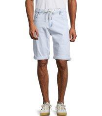 buffalo david bitton men's parker-x denim shorts - indigo - size 32