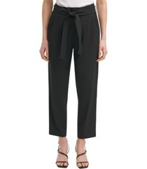 calvin klein tech stretch belted ankle pants