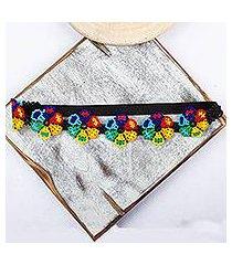 beaded headband, 'mexican garden' (mexico)
