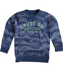 petrol blauwe sweater