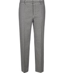 red valentino checked trousers