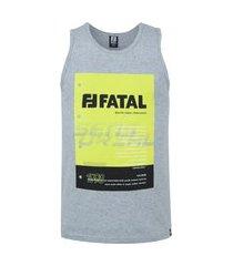 camiseta regata fatal estampada 25678 - masculina