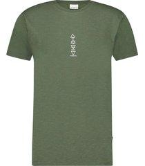 purewhite t-shirt army green