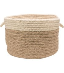 colonial mills chunky natural wool dipped braided basket